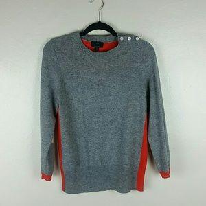 J Crew Dream Color Block Cashmere Blend Sweater